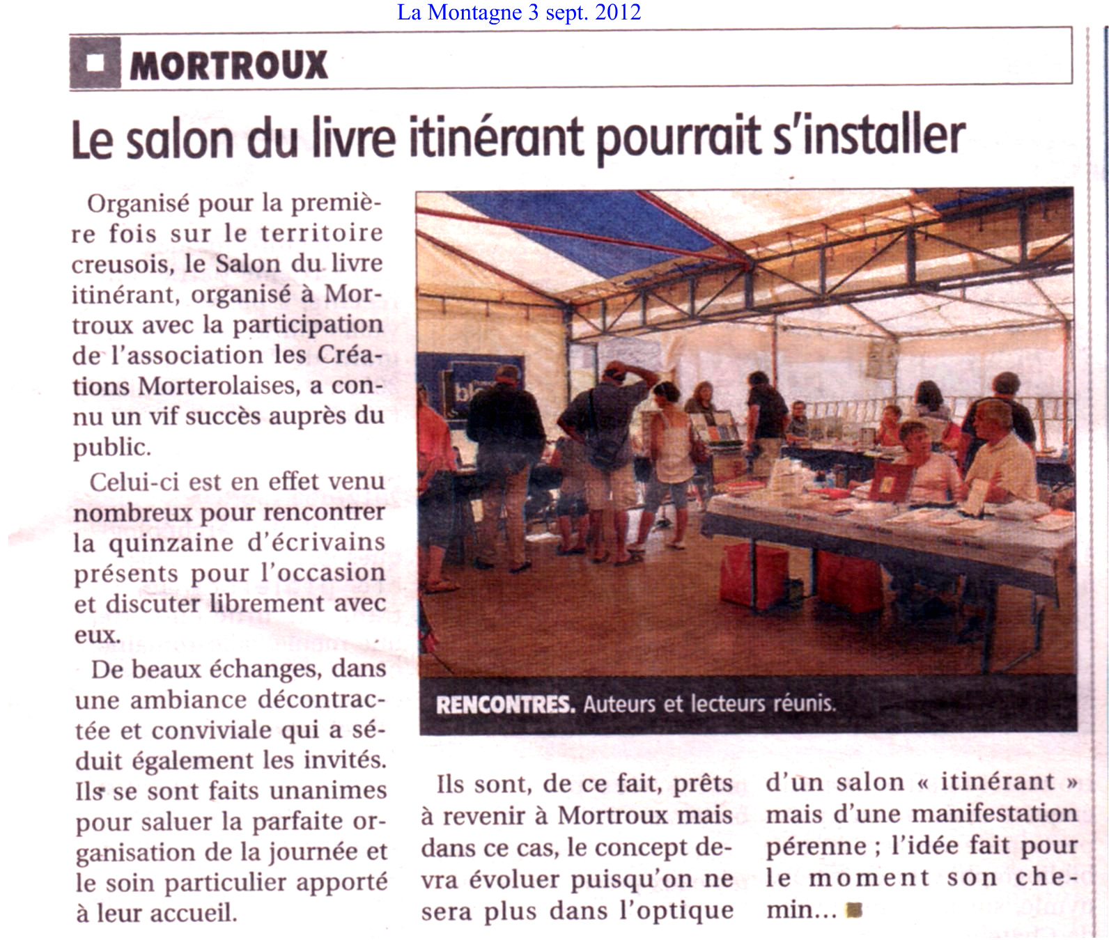 Article de la Montagne